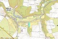 mapa pozemek Žeravice
