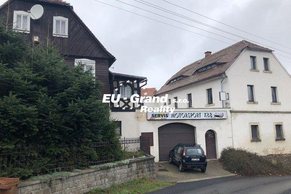prodej dvougeneračního domu s komerčním prostorem (autoservisem) ve Varnsdorfu