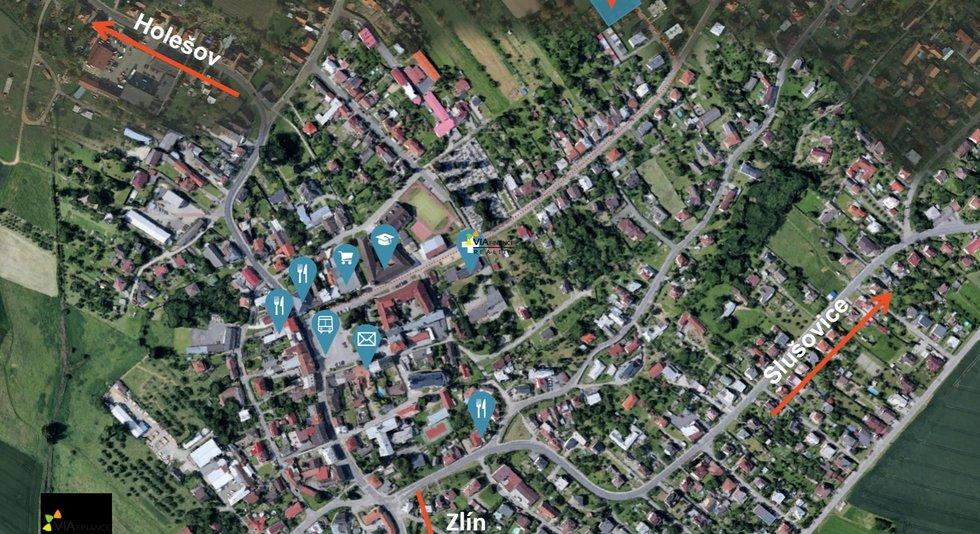 Mapa - byty Fryšták - barevná