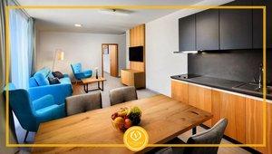 Apartmán č.1, 1+kk, 38,68 m², terasa 3,26 m²