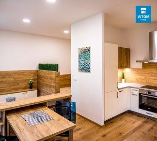 Podnájem plně zařízeného bytu 2+kk, po rekonstrukci, 40m², Slovákova, Brno - Veveří