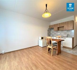 Podnájem Bytu 1+kk, 24m², Částečně vybavený byt s krásným výhledem,  Horácké náměstí, Brno - Řečkovice