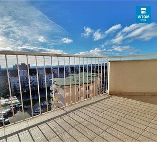 Podnájem bytu 1+kk s terasou, CP 40 m² - ul. Bělohorská, Brno-Židenice