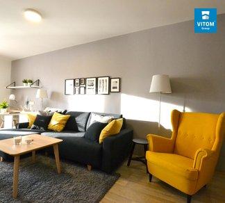 Podnájem luxusně zařízeného bytu 1+kk, 52m² s terasou a garážovým stáním, Vranovice, Brno - venkov