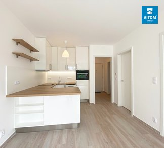 Podnájem vybaveného moderního bytu 2+kk, 46m2 s garáží, Fillova, Brno - Lesná