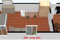 Půdorys 2. patro zahradní dům (2)